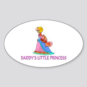 Daddy's Little Princess Oval Sticker