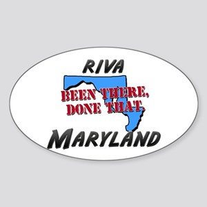 riva maryland - been there, done that Sticker (Ova