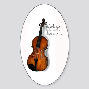 The Glorious Viola Oval Sticker