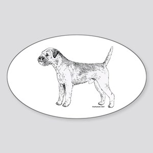 Border Terrier Sticker (Oval)