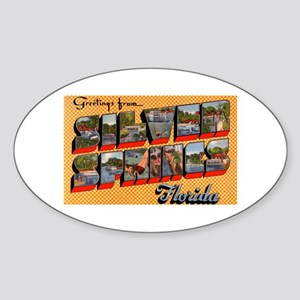 Silver Springs Florida Greetings Oval Sticker