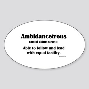 Ambidancetrous Sticker (Oval)