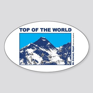 Mount Everest Printed Sticker (Oval)