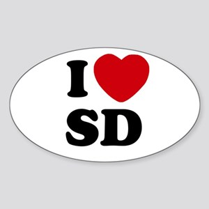 I Heart SD San Diego Sticker (Oval)