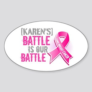Personalized Breast Cancer Sticker (Oval)