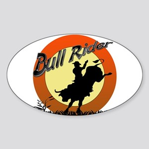 Bull Rider Sticker (Oval)