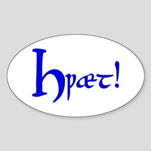 Hwaet! (Blue) Oval Sticker