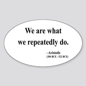 Aristotle 4 Oval Sticker