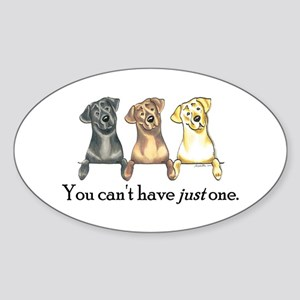 Just One Lab Sticker (Oval)