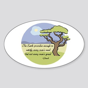 Ghandi Earth quote Oval Sticker