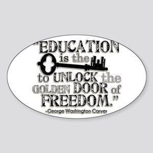 Education Quote Sticker (Oval)