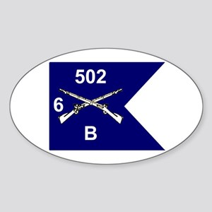 B Co. 6/502nd Oval Sticker