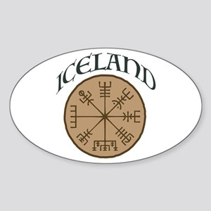 Iceland Sticker (Oval)
