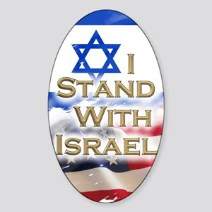 I stand with Israel 001 Sticker (Oval)