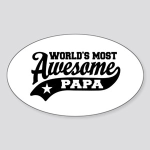 World's Most awesome Papa Sticker (Oval)