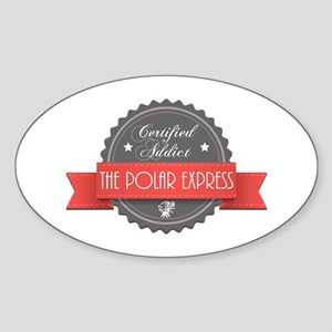 Certified Addict: The Polar Express Oval Sticker