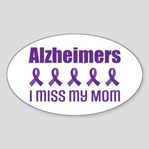 Alzheimers Mom Sticker (Oval)