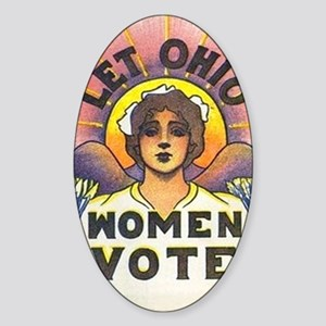 LET OHIO WOMEN VOTE Sticker (Oval)