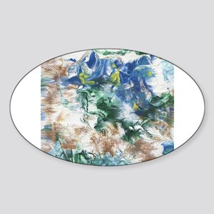 Blue and Brown Abstract Sticker