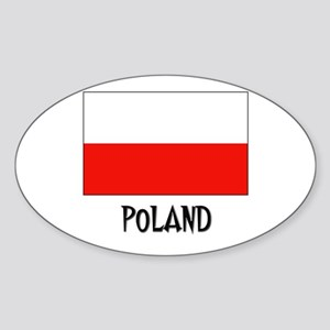 Poland Flag Oval Sticker