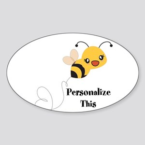 Personalized Cute Bumble Bee Sticker