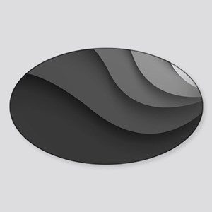 Black Abstract Sticker (Oval)