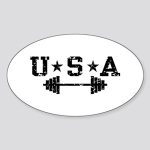 USA Weightlifting Sticker (Oval)