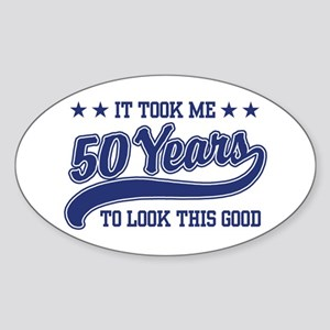 Funny 50th Birthday Oval Sticker