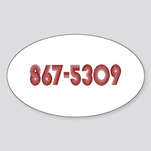 867-5309 Oval Sticker