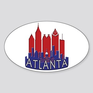 Atlanta Skyline Newwave Patriot Sticker (Oval)