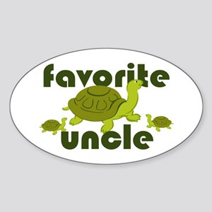 Favorite Uncle Sticker (Oval)