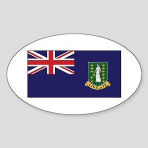BVI Flag Sticker (Oval)