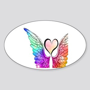 Angel Wings Heart Sticker