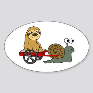Snail Pulling Wagon with Sloth Sticker