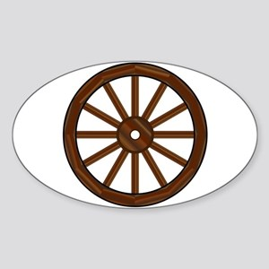 Covered Wagon Wheel Sticker
