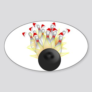 Christmas Bowling Sticker