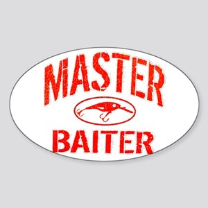 MASTER BAITER Sticker (Oval)