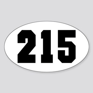 """215"" Oval Sticker"