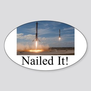 Landing- Nailed It! (Dark Text) Sticker