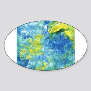 Yellow and Blue Abstract Sticker