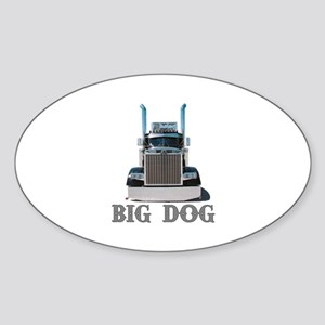 Big Dog Oval Sticker