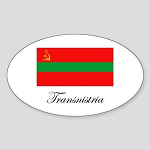 Transnistria - Flag Oval Sticker