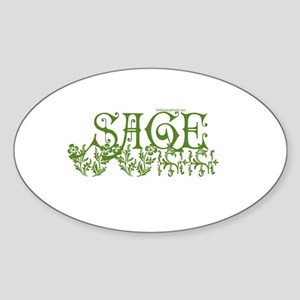 SAGE Oval Sticker