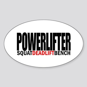POWERLIFTER Oval Sticker
