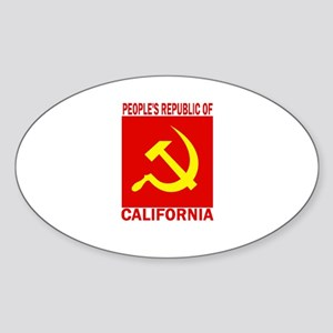 People's Republic of Californ Oval Sticker