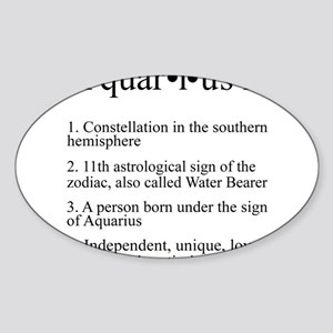 Astrology Aquarius Defined Sticker (Oval)