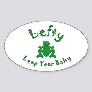 Left Handed Leap Year Sticker (Oval)