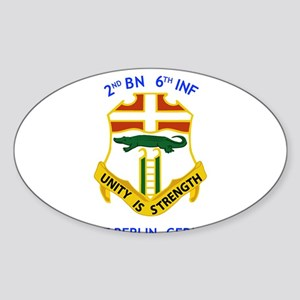 2nd BN 6th INF Gear Rectangle Sticker