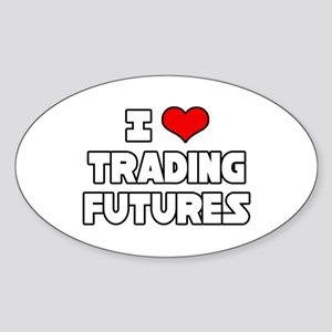 """I Love Trading Futures"" Oval Sticker"