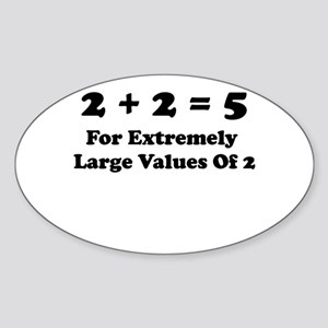 It All Adds Up! Oval Sticker